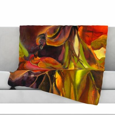 Mirrored in Nature Fleece Throw Blanket Size: 80 L x 60 W