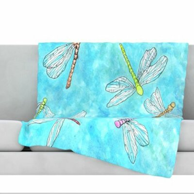Dragonfly Fleece Throw Blanket Size: 80 L x 60 W