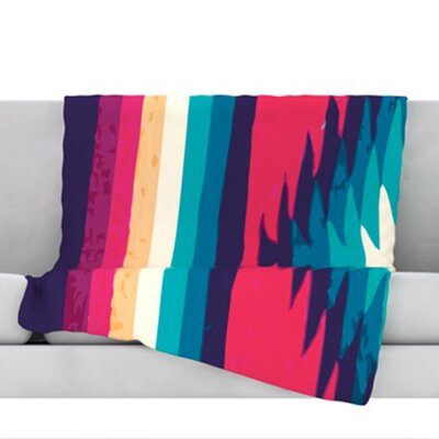 Surf Fleece Throw Blanket Size: 80 L x 60 W