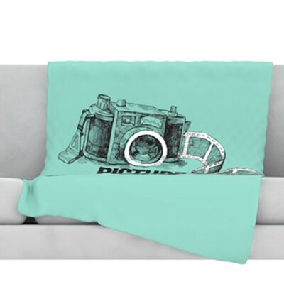 Picture Me Rollin Fleece Throw Blanket Size: 60 L x 50 W