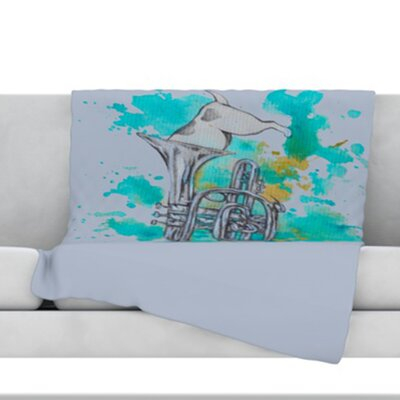 Hunting for Jazz Fleece Throw Blanket Size: 40 L x 30 W