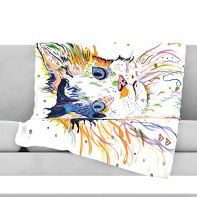 Sophia Fleece Throw Blanket Size: 60 L x 50 W