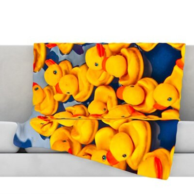 Duckies Fleece Throw Blanket Size: 80 L x 60 W