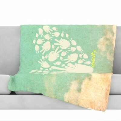 Serenity Fleece Throw Blanket Size: 80 L x 60 W