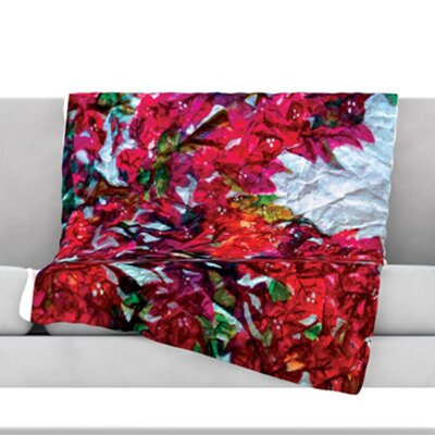 Bougainvillea Fleece Throw Blanket Size: 80 L x 60 W