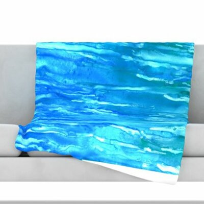 Wet & Wild Fleece Throw Blanket Size: 80 L x 60 W
