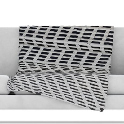 The Grid Fleece Throw Blanket Size: 80 L x 60 W