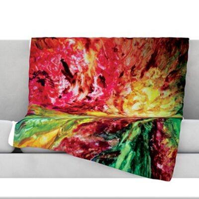 Passion Flowers I Fleece Throw Blanket Size: 80 L x 60 W