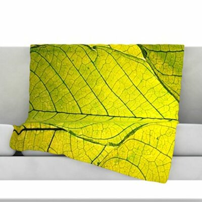 Every Leaf a Flower Fleece Throw Blanket Size: 40 L x 30 W