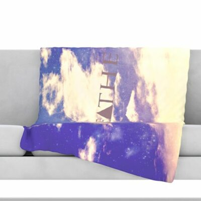 Breathe Fleece Throw Blanket Size: 80 L x 60 W