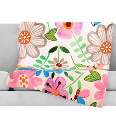 The Garden Fleece Throw Blanket Size: 40 L x 30 W