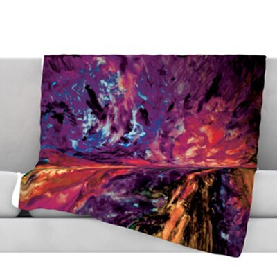 Passion Flowers II Fleece Throw Blanket Size: 60 L x 50 W