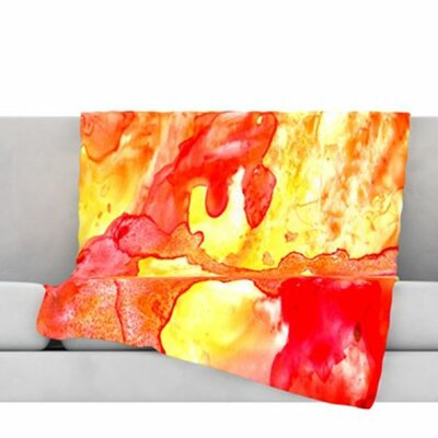 Hot Hot Hot Fleece Throw Blanket Size: 80 L x 60 W