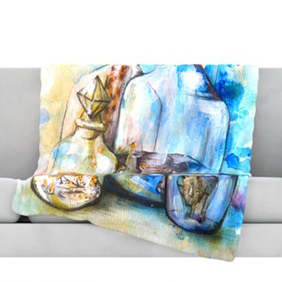 Bottled Animals Fleece Throw Blanket Size: 40 L x 30 W