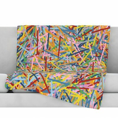 More Sprinkles Fleece Throw Blanket Size: 40 L x 30 W