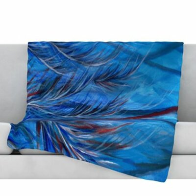 Tropical Fleece Throw Blanket Size: 40 L x 30 W