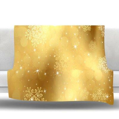 Golden Radiance by Snap Studio Fleece Throw Blanket Size: 40 H x 30 W x 1 D