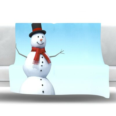 Feelin Frosty by Snap Studio Fleece Throw Blanket Size: 90 H x 90 W x 1 D