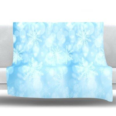 Winter is Coming by Snap Studio Fleece Throw Blanket Size: 90 H x 90 W x 1 D