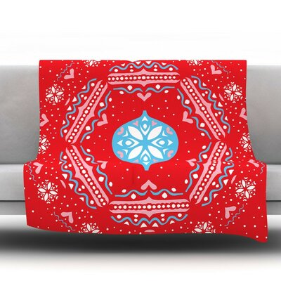 Snow Joy by Miranda Mol Fleece Throw Blanket Size: 60 H x 50 W x 1 D
