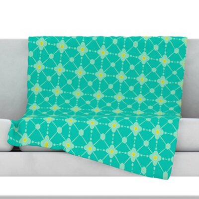 Hive Blooms Fleece Throw Blanket Size: 60 L x 50 W