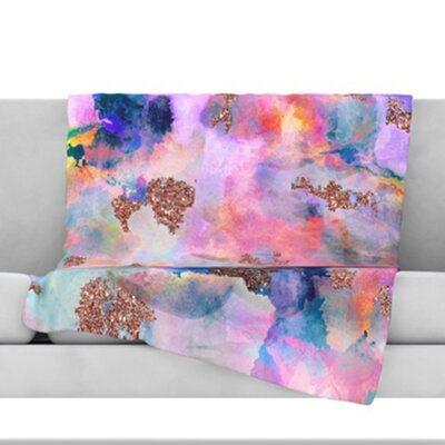 Sparkle Mist Fleece Throw Blanket Size: 40 L x 30 W