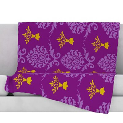Crowns Fleece Throw Blanket Size: 80 L x 60 W