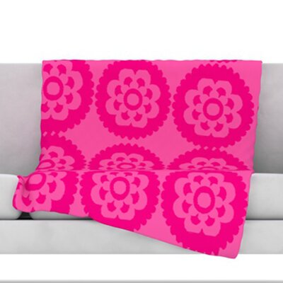 Moroccan Fleece Throw Blanket Size: 80 H x 60 W, Color: Hot Pink