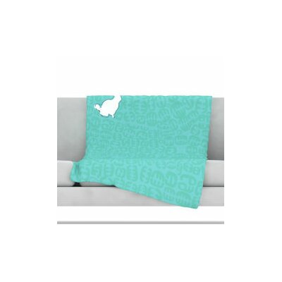 Oliver Fleece Throw Blanket Size: 90 L x 90 W, Color: Teal