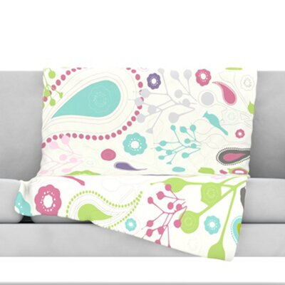 Bird Song Fleece Throw Blanket Size: 60 L x 50 W
