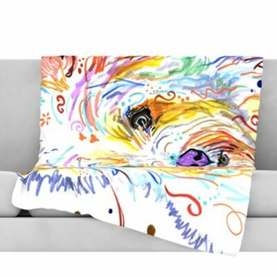 Bella Fleece Throw Blanket Size: 80 L x 60 W