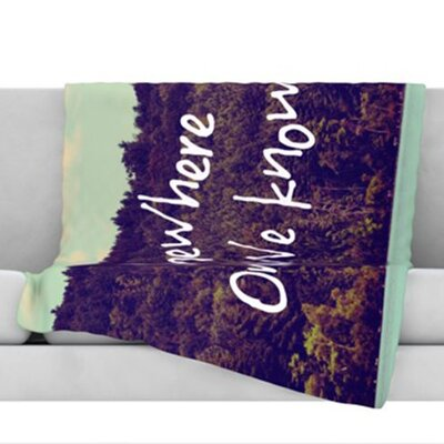 Somewhere Fleece Throw Blanket Size: 40 L x 30 W