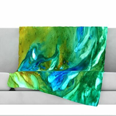 Hurricane Fleece Throw Blanket Size: 60 L x 50 W