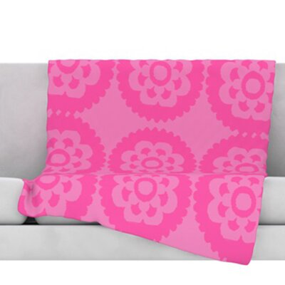 Moroccan Fleece Throw Blanket Size: 60 H x 50 W, Color: Pink