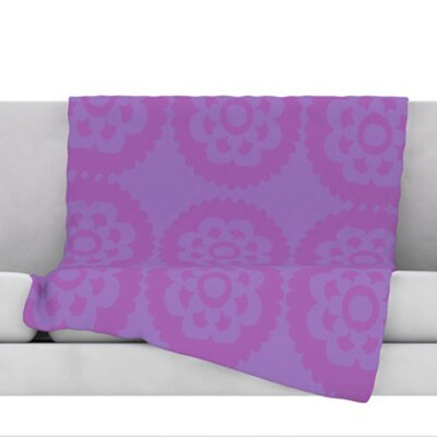 Moroccan Fleece Throw Blanket Color: Lilac, Size: 60 H x 50 W