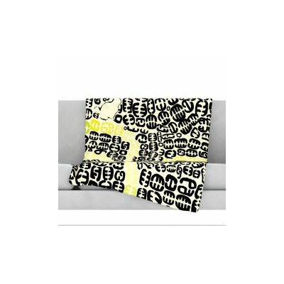 Oliver Fleece Throw Blanket Size: 80 L x 60 W, Color: Yellow