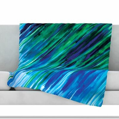 Fleece Throw Blanket Color: Blue, Size: 60 L x 50 W