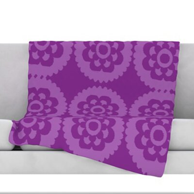 Moroccan Fleece Throw Blanket Size: 60 H x 50 W, Color: Purple