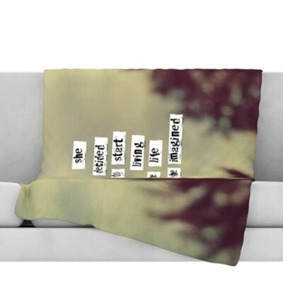 Her Life Fleece Throw Blanket Size: 40 L x 30 W
