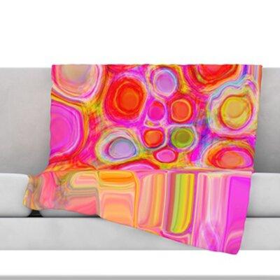 Spring Fleece Throw Blanket Size: 80 L x 60 W