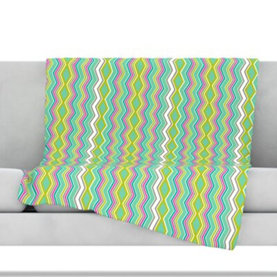 Chevron Love Fleece Throw Blanket Size: 40 L x 30 W