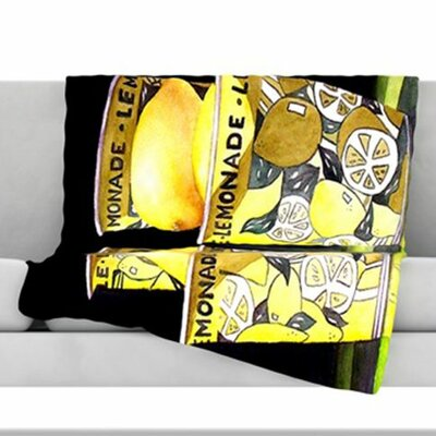 Lemonade Fleece Throw Blanket Size: 40 L x 30 W