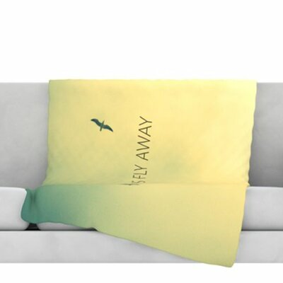 Lets Fly Away Fleece Throw Blanket Size: 60 L x 50 W