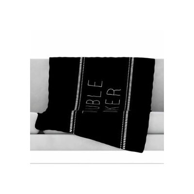 Trouble Maker Fleece Throw Blanket Size: 80 L x 60 W