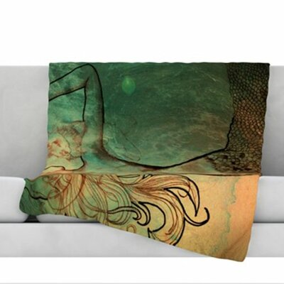 Poor Mermaid Fleece Throw Blanket Size: 40 L x 30 W