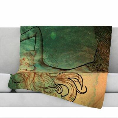 Poor Mermaid Fleece Throw Blanket Size: 80 L x 60 W