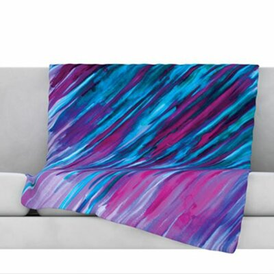 Fleece Throw Blanket Size: 60 L x 50 W, Color: Purple
