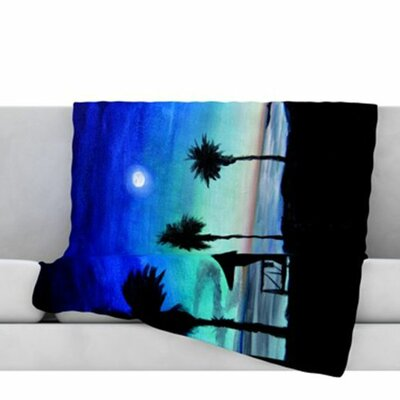Carlsbad State Beach Fleece Throw Blanket Size: 40 L x 30 W
