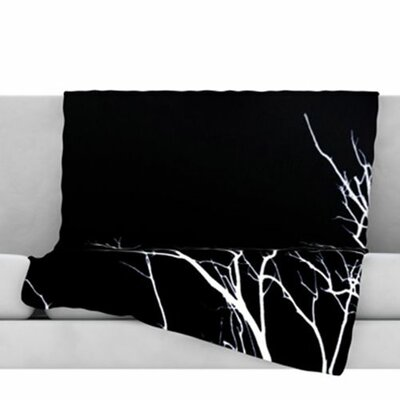 Winter Fleece Throw Blanket Size: 40 L x 30 W, Color: Black