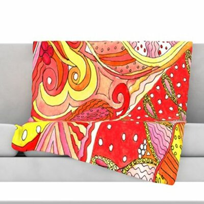 Swirls Fleece Throw Blanket Size: 60 L x 50 W